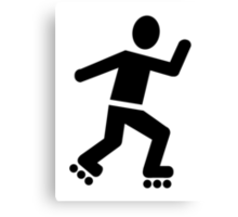 Inline Skating Canvas Print