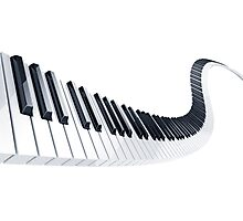 piano keyboard Photographic Print