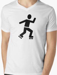 Inline Skating Mens V-Neck T-Shirt
