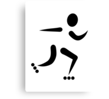 Inline Skating icon Canvas Print
