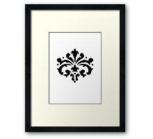 Stencil Framed Print