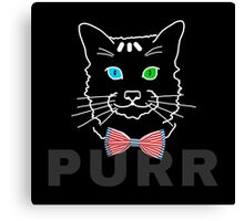 Cat Purr Dark Canvas Print