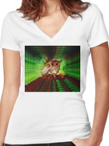WIRED FOR SOUND Women's Fitted V-Neck T-Shirt