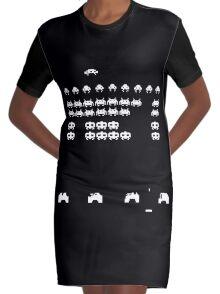 Wardrobe Invaders Graphic T-Shirt Dress