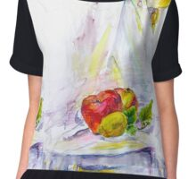 still life with apple Chiffon Top