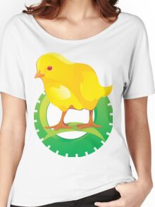 Cute Yellow Bird Women's Relaxed Fit T-Shirt