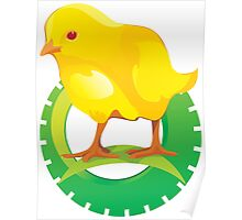 Cute Yellow Bird Poster