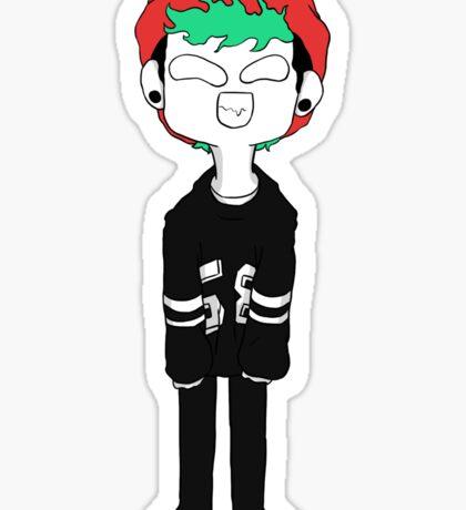Josh Dun Green Hair Sticker