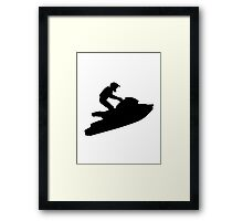 Jet ski racing Framed Print