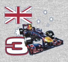 Daniel Ricciardo F1 driver with Australian flag One Piece - Short Sleeve
