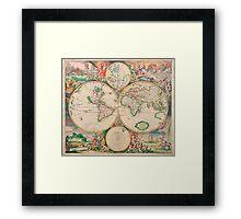 Mercator map Framed Print