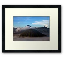 Mt. Bromo Rises From the Mist Framed Print
