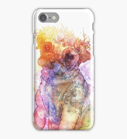 Pug is love - Galaxy abstract iPhone Case/Skin
