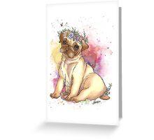 Pug is love - Galaxy Watercolours Greeting Card