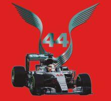 Lewis Hamilton F1 with LH 2016 44 car Kids Tee