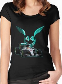 Lewis Hamilton F1 with LH 2016 44 car Women's Fitted Scoop T-Shirt