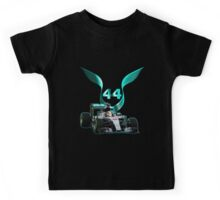 Lewis Hamilton F1 with LH 2016 44 car Kids Tee