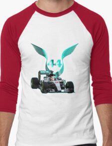 Lewis Hamilton F1 with LH 2016 44 car Men's Baseball ¾ T-Shirt