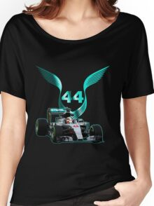 Lewis Hamilton F1 with LH 2016 44 car Women's Relaxed Fit T-Shirt