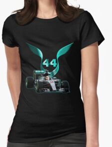 Lewis Hamilton F1 with LH 2016 44 car Womens Fitted T-Shirt