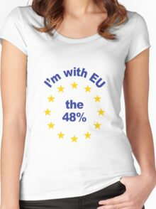 I'm With EU - Represent the 48% Women's Fitted Scoop T-Shirt
