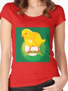 cute chicken Women's Fitted Scoop T-Shirt