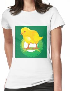 cute chicken Womens Fitted T-Shirt