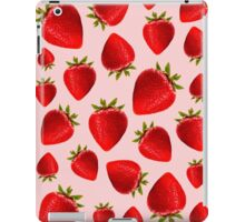 Red and pink strawberry pattern iPad Case/Skin