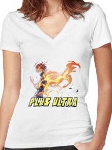 my hero academia Women's Fitted V-Neck T-Shirt