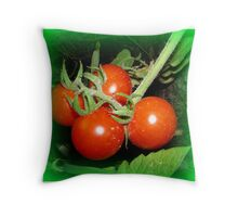 Cherry Tomatos Throw Pillow
