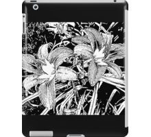 Lilies of the Woodcut iPad Case/Skin