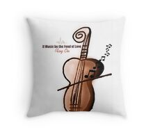 Music; The Food of Love Throw Pillow