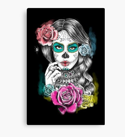 Aaliyah, Day of the Dead Canvas Print