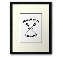 Beacon Hills Lacrosse Tshirt Framed Print