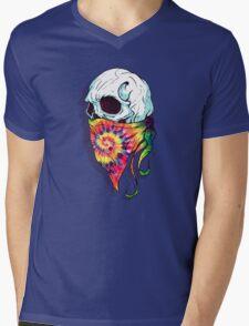 Skull Hipster Mens V-Neck T-Shirt