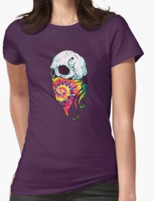 Skull Hipster Womens Fitted T-Shirt