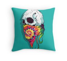 Skull Hipster Throw Pillow