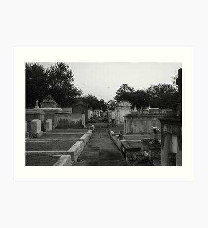Metairie Cemetery Art Print