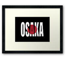 Osaka. Framed Print