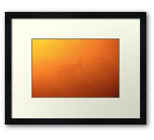 Red Hartebeest - Faded Gold - African Wildlife Framed Print
