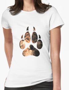 Wolf Paw Womens Fitted T-Shirt