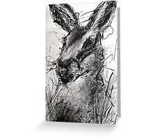 Hare Drip painting Greeting Card