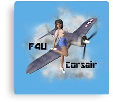 F4U Pin Up Art 2 Canvas Print