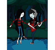 Marceline and Marshall Lee - Adventure Time Photographic Print