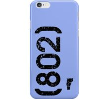Area Code 802 Vermont iPhone Case/Skin