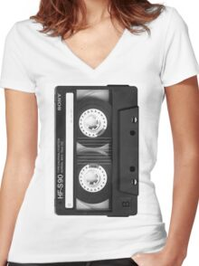 ON TAPE Women's Fitted V-Neck T-Shirt