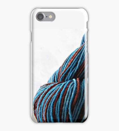 Brown and Blue Skein iPhone Case/Skin