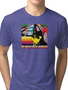 ATARI FREEWAY CARTRIDGE LABEL Tri-blend T-Shirt