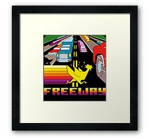 ATARI FREEWAY CARTRIDGE LABEL Framed Print