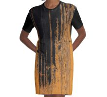 Wood Pattern 2 Graphic T-Shirt Dress